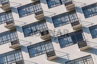 Bauhaus Dessau Rückansicht