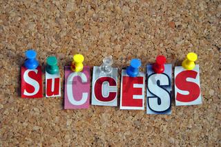 Success Pinnwand Slogan Spruch