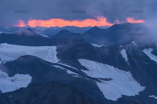 evening mood, Kebnekaise mountains, Lapland
