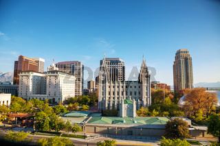 Salt Lake City downtown overview
