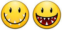 Carnivorous Smile Face Icon