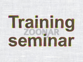 Education concept: Training Seminar on fabric texture background