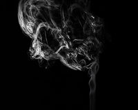 Cigarette smoke forming a skull shape