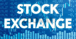Conceptual image with financial charts and graphs - Stock exchange