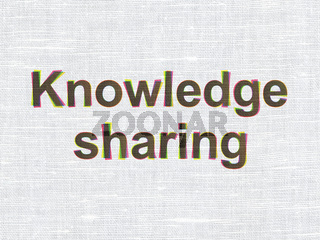 Education concept: Knowledge Sharing on fabric texture