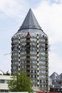 Bleistift-Turm 'het potlood' in Rotterdam, Niederlande