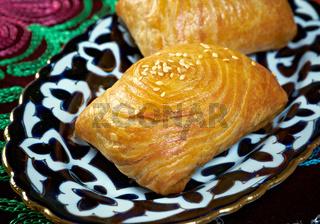traditional eastern food samsa.
