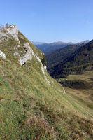 View from Jaufenpass into the Jaufen valley