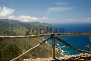 Panorama von Cabezo del Tejo, Küste bei Taganana, Anaga-Gebirge, Anaga, Teneriffa, Nordosten, Kanarische Inseln, Kanaren, Spanien, Europa