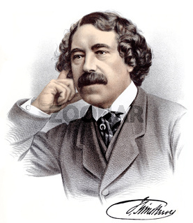portrait of John Sims Reeves, 1821 - 1900, an English opera singer of the Victorian era