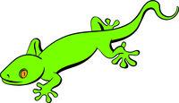 Green gecko lizard icon, icon cartoon