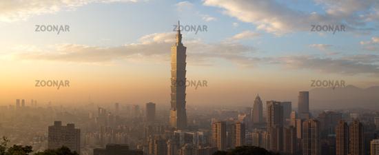 Taipei city skyline panoramic view
