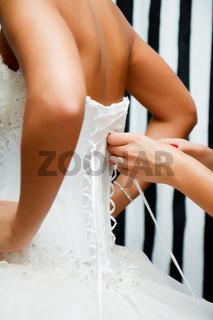 lace bridal corset
