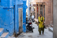 Woman in the streets of Jodhpur, India
