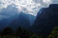 Weather and light mood on the Bavella massif - Corsica