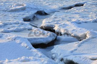crack on the ice