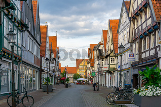 beautiful summer evening in the historic old town of Celle in Lower Saxony