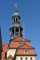 Lüneburg - Baroque town hall tower with carillon, Germany