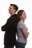 Man and woman offended by each other