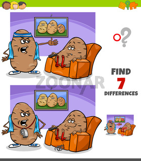 differences game with couch potato proverb