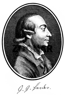 Johann Gottfried von Herder, 1744 - 1803, a German poet, translator, theologian and philosopher