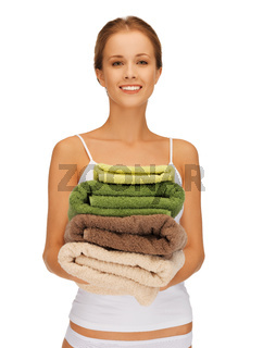 lovely woman with towels