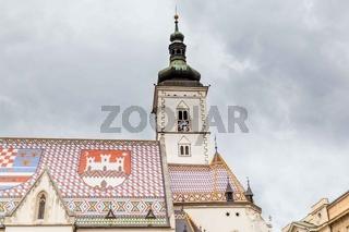 Cityscape Zagreb Croatia in Europe