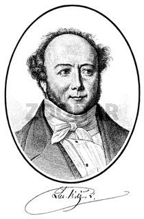 Gotthelf or Albert Bitzius, 1797 - 1854, a Swiss writer and pastor,