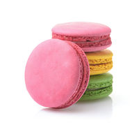 Stack of colorful macaroons