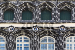 Lüneburg - Historische Backsteinfassade aus dem 16.Jh., Deutschland