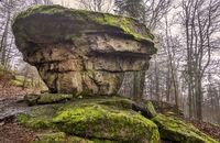 Rocks at the Big Waldstein in the Fichtelgebirge Mountains