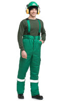 Male in workwear isolated rearview