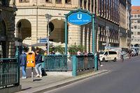 Französische Strasse underground station in the centre of Berlin