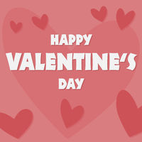 happy valentines day greeting card or social media template