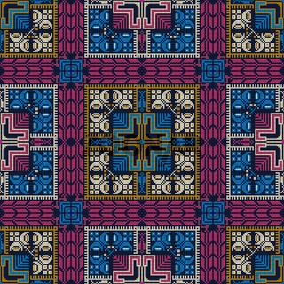 Palestinian embroidery pattern 287
