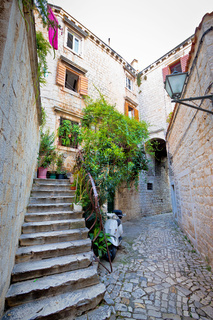 Stone streets of old Trogir