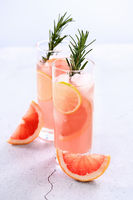 Fresh lime and rosemary in combination with fresh grapefruit juice and tequila. This cocktail is ful
