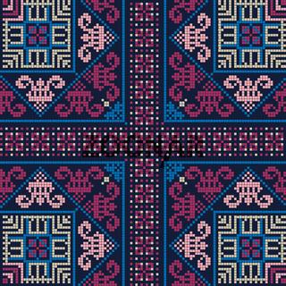 Palestinian embroidery pattern 261