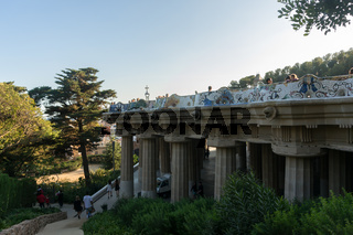 Park Guell Building in Barcelona, Spain