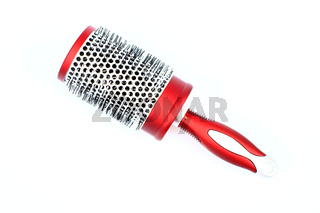 red round comb isolated on a white