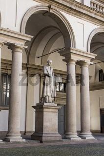 Palace of Brera in Milano Italy