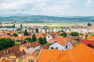 Rasnov old town and mountain in Rasnov, Romania