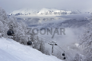 Ski lift in Rosa Khutor Alpine Resort