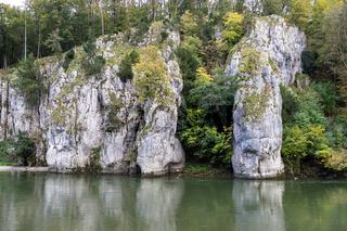 Danube valley at Danube breakthrough near Kelheim, Bavaria, Germany