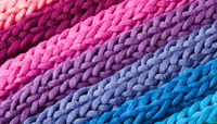 Close knitted plaid made from the various colors