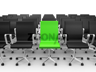 Green Chair in Conference Hall