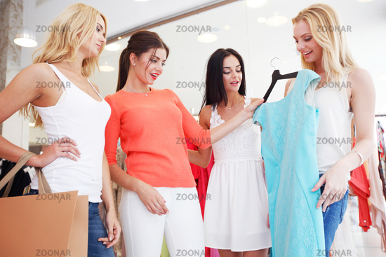 Women choosing dress