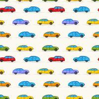 Cartoon cars pattern