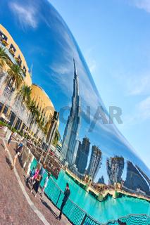 Downtown Dubai's reflection