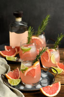 Fresh lime and rosemary combined with fresh grapefruit juice and tequila are the perfect way to get